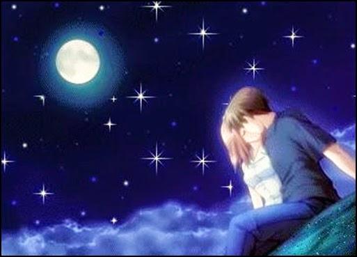 Frases de amor, noche, estrellas, collar, mujer, amo.