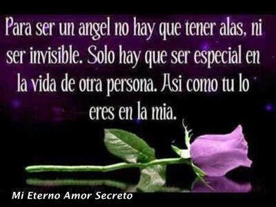 Frases de amor, ángel, alas, invisible, especial, vida, persona, mía.
