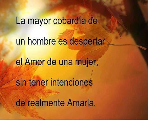 Frases de decepción, cobardía, hombre, despertar, amor, mujer, intenciones, amarla.