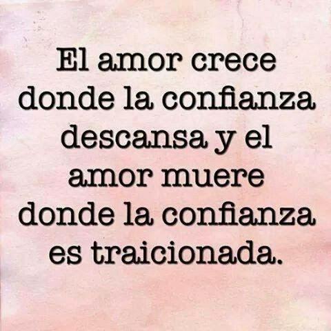 El Amor Crece Donde La Confianza Descansa Cartas De Amor Y